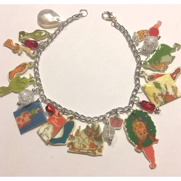 0c220a26e8e4c Dr Seuss Grinch Christmas Holiday Charm Bracelet
